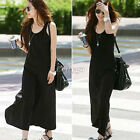 Ladies Womens Toga Jersey Black Racer Back Vest Long Maxi Dress