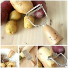 Kitchen ware Cute Wooden Cutlery Smile Stainless Steel Knife Vegetable Peeler