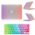 """2item Rainbow Design Rubberized Hard Case Cover for Macbook Air Pro 11"""" 13"""" 15"""""""