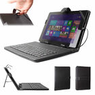 Range of Keyboard Cases w/ Faux Leather Exterior for Linx 7, 8, 10 Inch Models