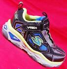 NEW Boy's Toddler SKECHERS GALVANIZED 90454 Black LIGHTS Athletic Sneakers Shoes