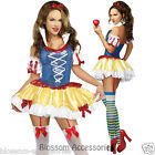 K42 Ladies Snow White Princess Disney Fancy Dress Up Party Fairy Tales Costume