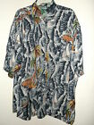 NEW PALMS & SAIL BOATS PRINT HAWAIIAN SHIRT size L or M by EVEREST COLLECTION