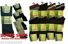 6 pairs mens diabetic bamboo non-elastic socks anti bacterial loose top ribbed