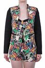 Hidden Fashion Womens Ladies Abstract Floral Open Front Blazer Jacket