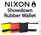 Nixon Showdown Rubber BiFold Wallet Coin Pocket Card Pocket Embossed Logo