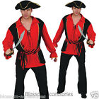 CSW5 Bucaneer Captain Pirate Mens Hallowen Adult Party Costume Outfit + Hat