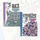 The Art Therapy & The Creative Therapy Colouring 2 Books Collection Set BrandNew