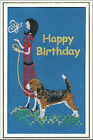 Beagle Birthday Card Embroidered by Dogmania  - FREE PERSONALISATION
