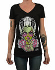 Women's Scarred by Miss Cherry Martini Bride of Frankenstein Monster T-Shirt