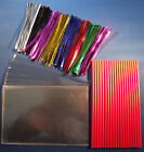 "CAKE POP KIT WITH 6"" RED PLASTIC STICKS + METALLIC TIES +15cm x 10cm CELLO BAGS"