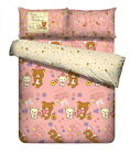 San-X Rilakkuma Happy Natural Time Fitted Sheet + Pillow Cases |3 Sizes
