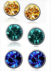 Fashion women  Crystal Dazzle Stud Earrings Ear studs charms Jewelry 3colors