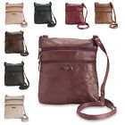Ladies Small Cross Body - Shoulder Bag with 5 Zipped Pockets by Lorenz