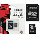 KINGSTON 8GB 16GB 32GB MICRO SD MEMORY CARD + ADAPTOR FOR CAMERA PHONE TABLET