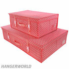 Pink Polka Dot Wedding Bridal Dress Storage Travel Box Carry Case Hangerworld
