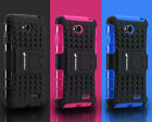 Rugged Grip Hybrid Heavy Impact Protective Case Cover w/ Kickstand For LG Realm