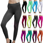 Solid Full Length Seamless Stretch Footless Stockings Long Legging Pants XS-L