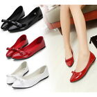 Womens Cute Bowknot Sexy Pointy Toe Leisure Flats Slip On Ballet Ballerina Shoes