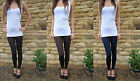 ANKLE Length Leggings HIGH RISE Combed Cotton SIZES 8 - 24
