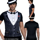 CL353 Mens Fever Male Gangster Instant T-Shirt Tee Shirt 20s 1920s Fancy Costume