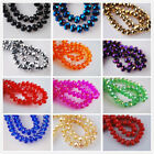 200pcs 3x2mm Faceted Glass Crystal Charms Findings Rondelle Loose Spacer Beads