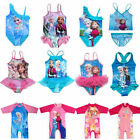 Girls Kids Swimwear Swimsuit Tankini Bathing Frozen Princess Elsa Anna Swimming