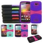Phone Case for Metro PCS Alcatel One Touch Fierce 2 Heavy Duty Cover Stand +Flim