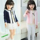 Fashion Baby Girls Lace Clothing Jacket Coat Kids Long Sleeve Outerwear Clothes
