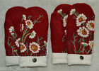 HANDMADE 100% BOILED WOOL recycled sweater MITTENS, Fleece Lined, Embroidered