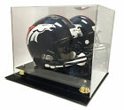 Deluxe Full Size Football Helmet Display UV Case w Mirror - Brand New!