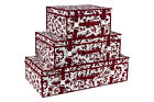 Luxury Burgundy Floral Storage Travel Box Wedding Dress Carry Case Hangerworld