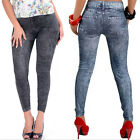 Sexy Fashion Women Blue Skinny Jeggings Stretchy Soft Leggings Pant Jeans