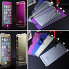 Front Back Mirror Effect Tempered Glass Screen Protector for iPhone 4 5 5S 6 6+