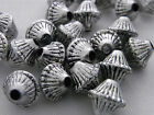 9x9mm 25/50/100/200grams ANTIQUE SLIVER ACRYLIC BICONE SPACER BEADS AB85946