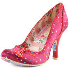 Irregular Choice Scottie Dog Womens Fabric Burgundy Heels New Shoes All Sizes