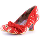 Irregular Choice Snapple Womens Fabric Red Heels New Shoes All Sizes