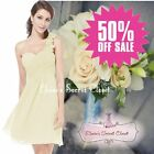 BNWT CHLOE Corsage Chiffon Cream Prom Evening Bridesmaid Dress UK Sizes 6 - 18