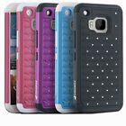 Bling Diamond Sparkle Hybrid TPU/PC Shockproof Case Cover For HTC One M9 Hima
