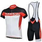 New High Quality Men Cycling Bike Bicycle Wear Short Sleeve Jersey + Bib Shorts