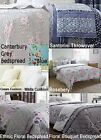Floral Geometric Contemporary Bedspread Or Cushion Or Pillowshams Or Bundle New