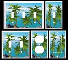 PALM TREES OCEAN VIEW K1  HOME DECOR  LIGHT SWITCH COVER PLATE U PICK SIZE