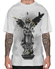 Sullen Clothing Statue Of Sullen Mens T Shirt White Skull Angel Tattoo Goth Tee