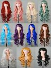 Fashion Anime 11 Color Cosplay Wigs Ladies' Curly Wigs Oblique Bangs Scroll 80cm