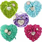 1pcs Wedding Favor Ring Pillow With Transprent Ring Box Good Quality 9 Colors