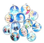 Lot Mixed Cartoon Princess Round Metal Charms Pendants Jewelry Making Party Gift
