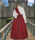 Ladies Victorian  Scottish Royal Stewart 3pc costume fancy dress 6-20