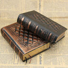 Faux Leather Vintage Classic Black Golden Plaid Framed Notebook Diary Journal