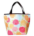 Japan Floral Brown Black Beige Insulated Thermal Lunch Box Hand Bag 2501360140