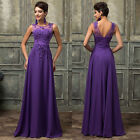 Applique NEW Long Bridesmaid Evening Prom Formal Gown Party MAXI Dress PLUS SIZE